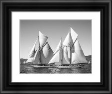 Classic yachts in full sail