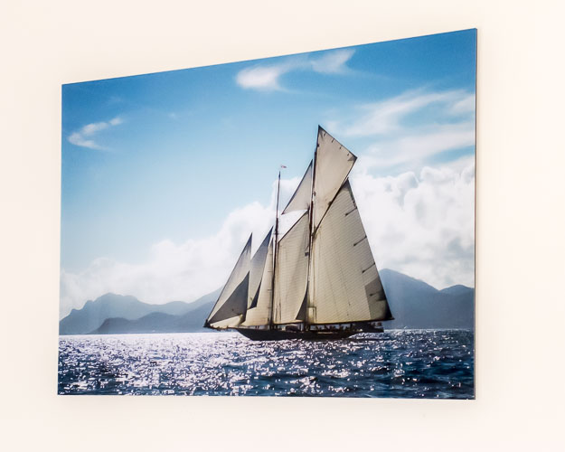 Classic Yacht Sailing Blue on Acrylic - from £140