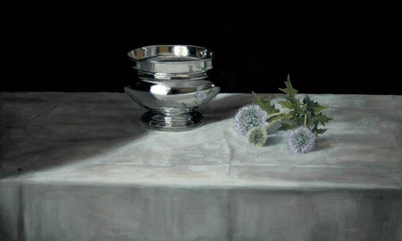 Silver Bowl & Echinops