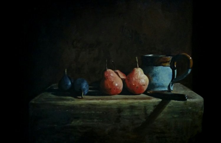 Figs, Pears and Cup