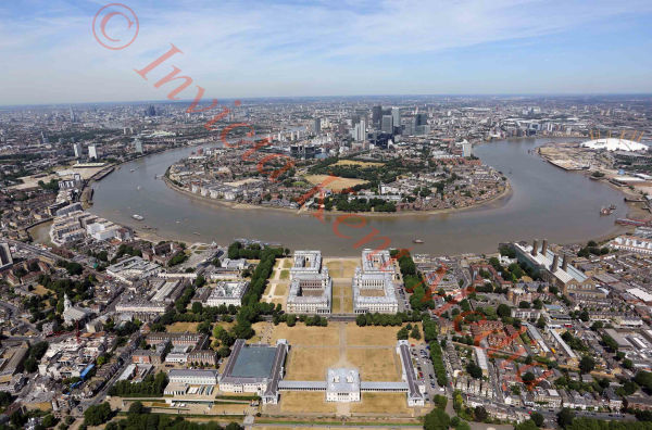 Aerial pic of Greenwich University site