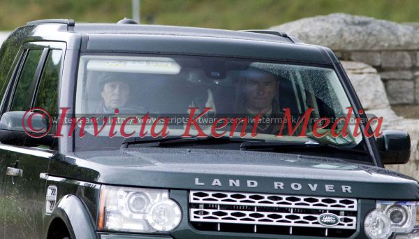 PICS SHOWS;BALMORAL GROUSE MOORS SCOTLAND.The Princess Anne with Commander Lawrence and Dog Leaves the Grouse shoot on the Balmoral Estate