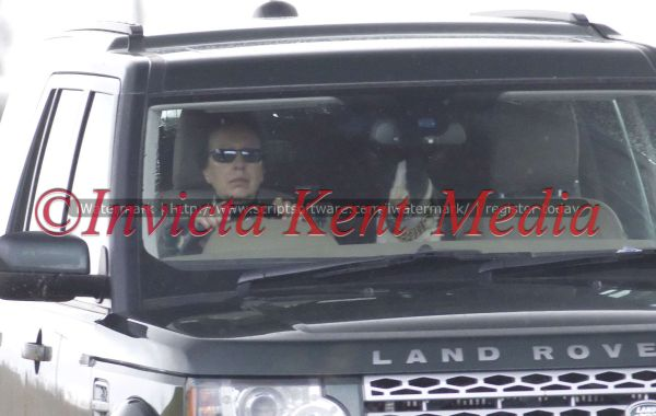 PICS SHOWS;BALMORAL GROUSE MOORS SCOTLAND.The Princess ANNE WITH HER DOG IN THE FRONT OF THE CAR WITH HER HEADS TO THE GROUSE MOORS ON BALMORAL ESTATE