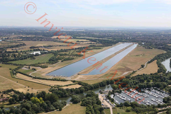 PIC SHOWS:- aerial views of Eton Dorney lake. Dorney Lake (also known as Eton College Rowing Centre, and as Eton Dorney as a 2012 Summer Olympics venue) is a purpose-built rowing lake in England. It is near the village of Dorney, Buckinghamshire, and is around 3 km (2 miles) west of Windsor and Eton, close to the River Thames.