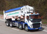 Volvo FM tipper southbound M20 30.3.16 with it's body still raised.