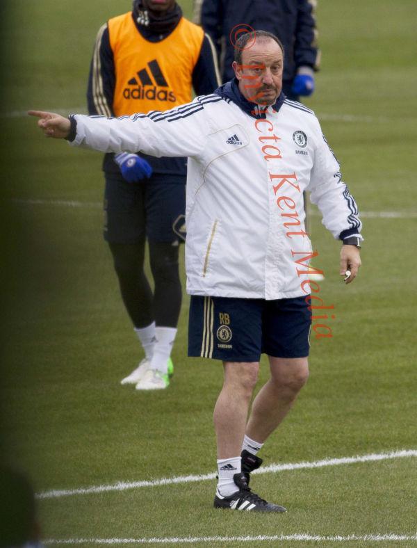PICS SHOWS;Chelsea training today at Cobham training ground. Rafa Benitez takes training