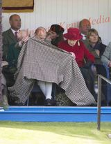 PICS SHOWS ; Braemar Games 5/9/15 The Queen ,Prince Philip ,Prince Charles And Autumn Phillips with her Husband Peter Phillips attend the Braemar Gathering