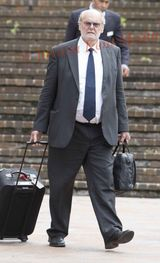 PIC SHOWS:Chiropractor Christopher Foley age 67yrs  at Maidstone Crown Court today awaiting his fate after admitting charges Five Offences of sexual  assault and 11 of Voyeurism with Patients