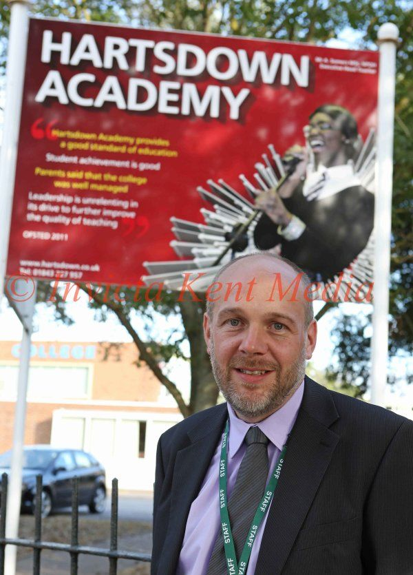 PIC SHOWS; Matthew Tate Head teacher of Hartsdown Academy in Margate Where there was disruption today over School dress code.