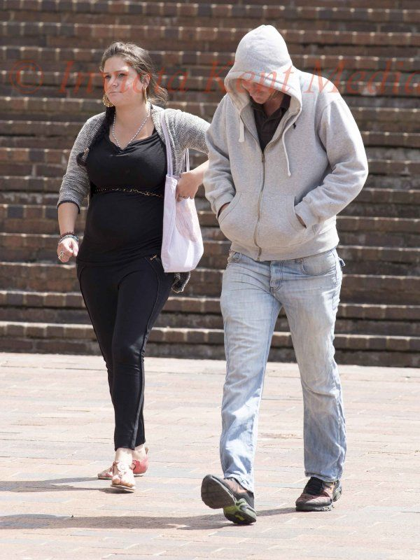 PIC SHOWS: Danny Shepherd Age 25yrs and Girlfriend Katherine Cox Age 33yrs Leave Maidstone Crown Court Today4/7/17 accused of Killing Eli Cox son of Katherine at home on the isle of Sheppey Kent.