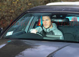 PIC SHOWS:- Chelsea star Eden Hazard drives into training at Cobham on 3.11.17