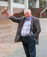 PIC SHOWS:Fergus Wilson Buy to let Mogul outside Maidstone county court today. The Equality Watchdog is seeking an injunction to stop his letting agent from banning Coloured tenants because they left Curry smells in His Houses.