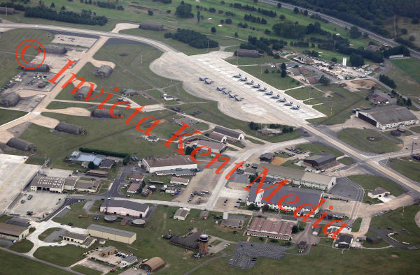 PICS SHOWS; Aerial pics of RAF Lakenheath with F15s present