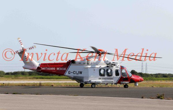 PIC SHOWS: AgustaWestland AW139 G-CIJW. new HM coastguard Search and Rescue helo based at Lydd in Kent. 14.7.15