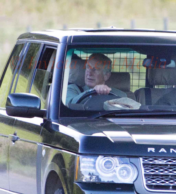 PICS SHOWS;The Royal Family on there way to A Grouse shoot on the Moors near Balmoral. Prince Charles Drives his self to Grouse Shoot near Balmoral