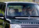 PICS SHOWS;The Royal Family on there way to A Grouse shoot on the Moors near Balmoral. The Queen Drives her self to Grouse Shoot near Balmoral where she joined the shooters for lunch
