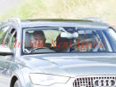 PICS SHOWS;The Royal Family on there way to the sunday service at Crathie church Balmoral. prince charles and camilla
