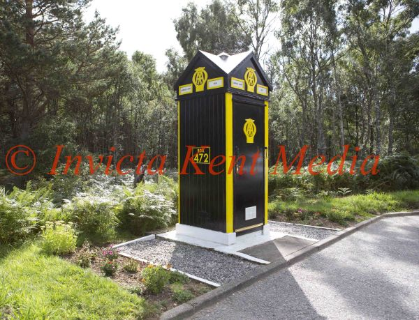 PICS SHOWS; Old AA Box on the A93near Ballater in Aberdeenshire