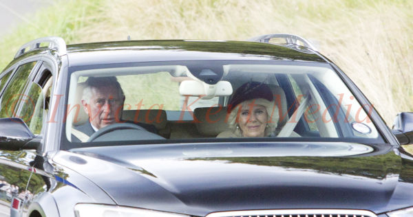 PICS SHOWS;Royals at Balmorals Crathie Church Today Prince Charles And Camilla at Crathie Church