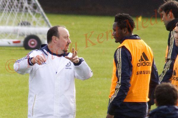 PICS SHOWS;Chelsea training ground. John Obi Mikel trains