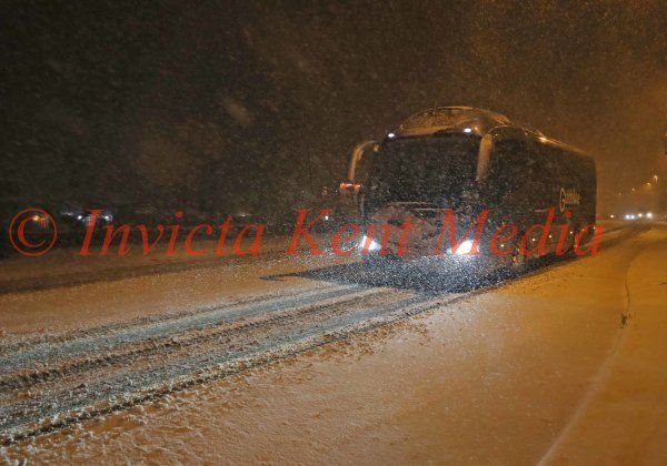 PIC SHOWS;A Blizzard hits West Kingsdown in Kent