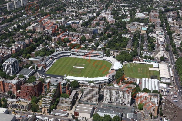 PIC SHOWS:-aerial view of Lords cricket ground, London, UK