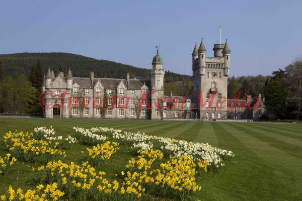 PICS SHOW; BALMORAL CASTLE IN SPRING TIME .