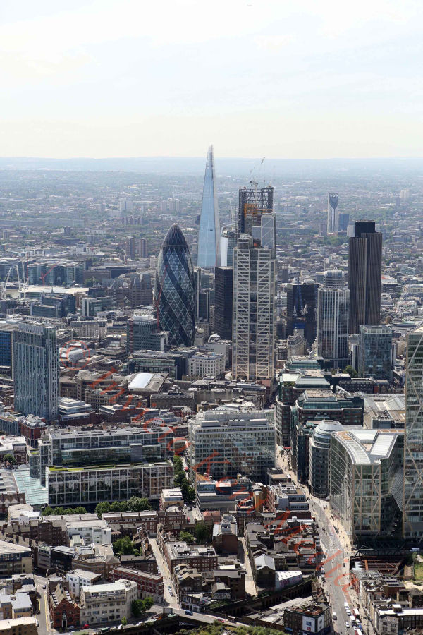 PIC SHOWS:- aerial views of The Shard building, London
