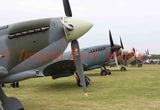 A lineup of Supermarine Spitfires stands ready at Biggin Hill, part of the 75 Anniversary of the Battle of Britain  Hardest Day