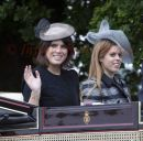 PICS SHOWS;The Royal carriage procession on its way to Ascot Races.Princess Eugenie and Beatrice