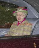 PIC SHOWS;- The Queen going to Crathie Church