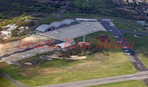 PIC SHOWS; AERIAL SHOT OF FARNBOROUGH AIRFIELD