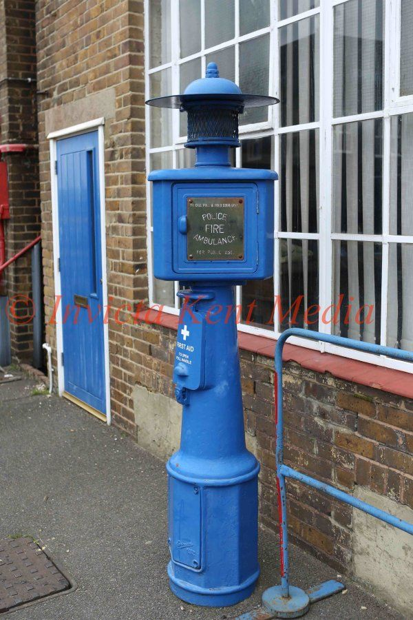 PIC SHOWS:- emergency services contact station at Chatham Historic Dockyard