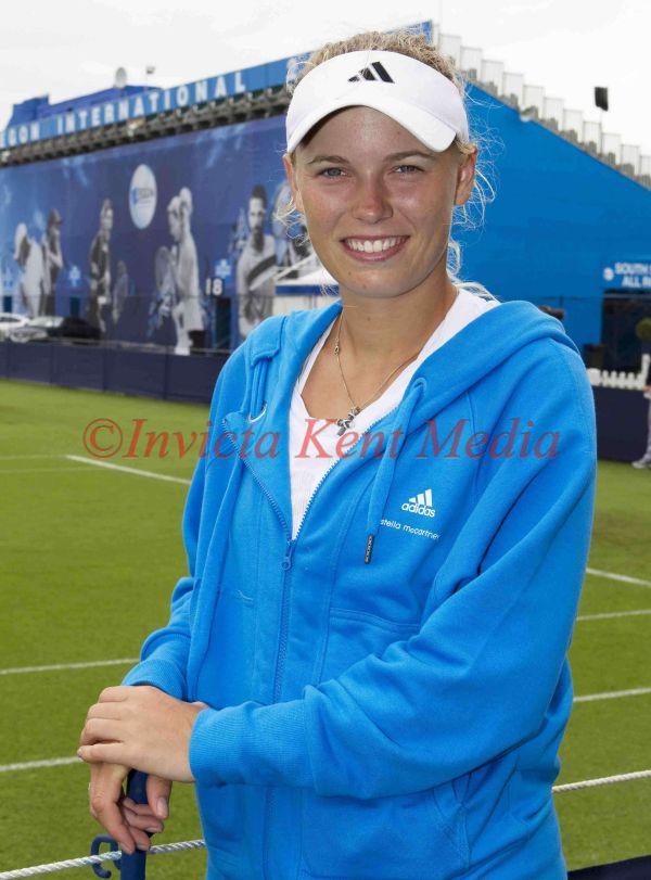 Caroline Wozniacki at Eastbourne Ladies Tennis Tournament, UK