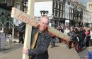 PICS SHOWS;The Archbishop of Canterbury Carries the Cross in the Procession of Witness thru Dover Town Centre