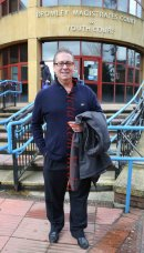 PICS SHOWS;Kenny Sansom Ex Arsenal Full back leaves Bromley Magistrates Court Today after his Case Was Thrown Out .