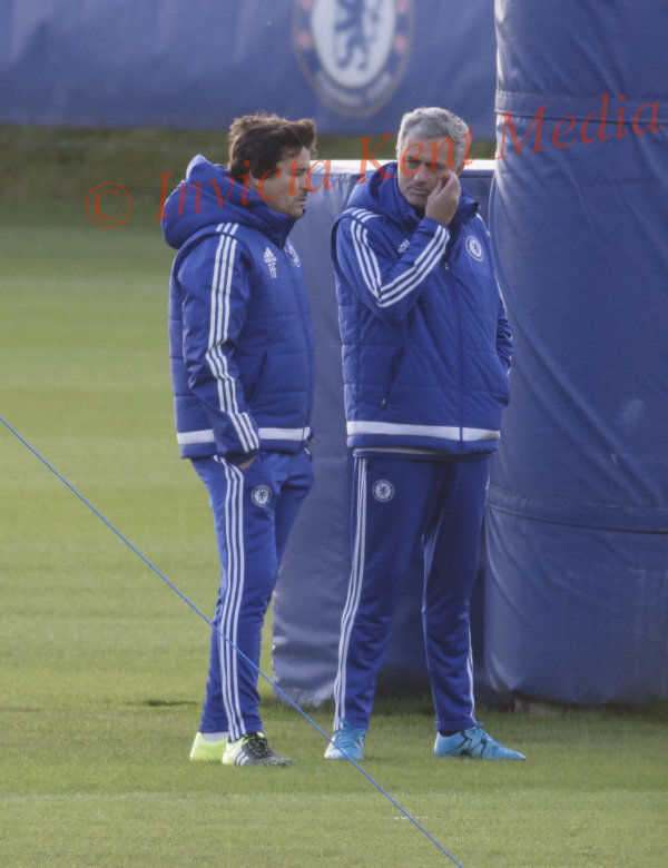 PICS SHOWS;Chelsea Training at Cobham Training Ground in Surrey  With Jose Mourinho 16.12.15