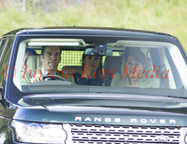 PIC SHOWS;Royals at Crathie Church Today. Charles and Camilla arrives at Crathie Church Balmoral .