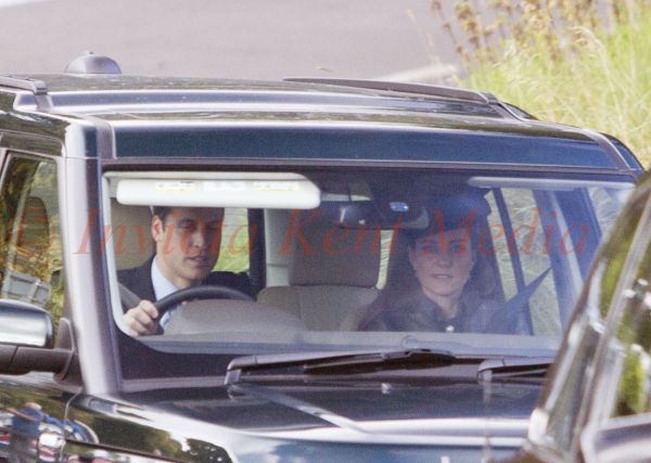 PICS SHOWS;Royals at Balmorals Crathie Church Today Duke and Duchess of Cambridge at Crathie Church Today