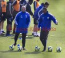 PIC SHOWS:CHELSEA FIRST TRAINING SESSION UNDER ROBERTO DE MATTEO  AT THE COBHAM TRAINING GROUND