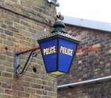PIC SHOWS:- historic Police lantern at Chatham Historic Dockyard