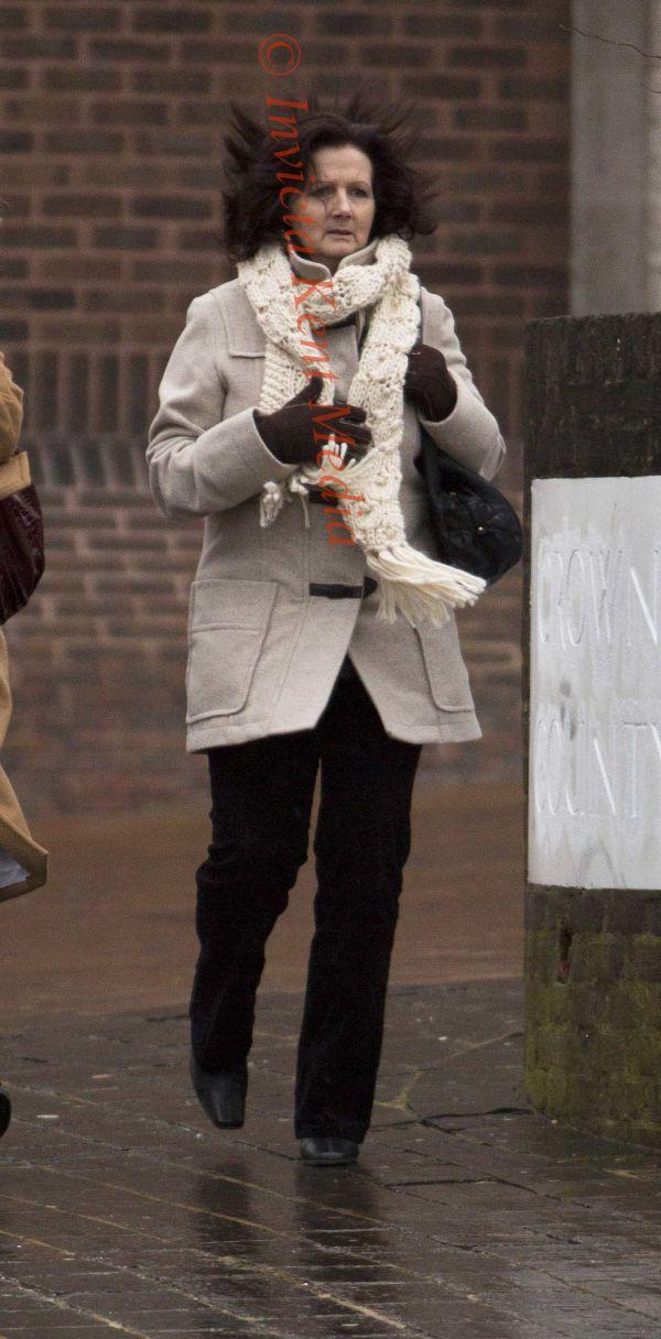 PICS SHOWS;Louise Leggatt leaves Maidstone Crown Court today.