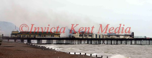 PICS SHOW;HASTINGS PIER AT THE END OF THE FIRE.