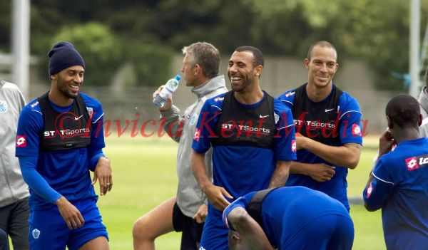 PICS SHOWS;ANTON FERDINAND AT Q P R TRAINING GROUND IN HARLINGTON