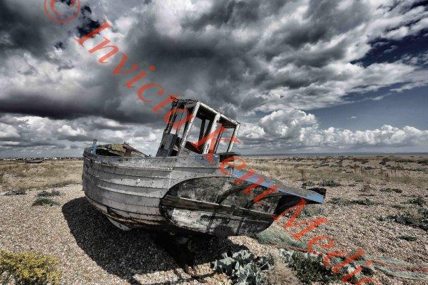 Fishing boat on the Kent coast