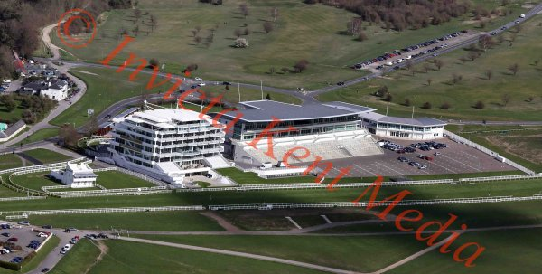 Aerial view of Epsom racecourse