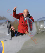 PIC SHOWS; 100th anniversary of Biggin Hill Airfield in Kent One Hundred Year old Ray Roberts Who trained as a Spitfire Pilot from West Ham in 1940 is Taking for a ride in a Spitfire from Biggin Hill as part of the Celebrations.