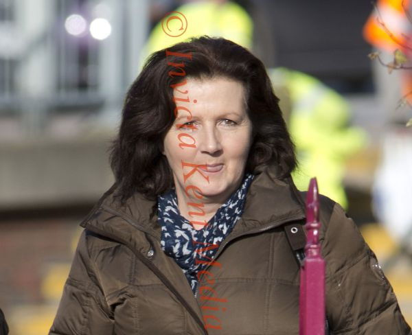 PICS SHOWS;louise Leggat arrives back from Lunch at Maidstone Crown Court Today 7/2/13