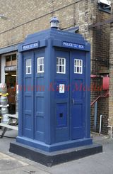 PIC SHOWS:- Police Public Call box (or TARDIS?) at Chatham Historic Dockyard