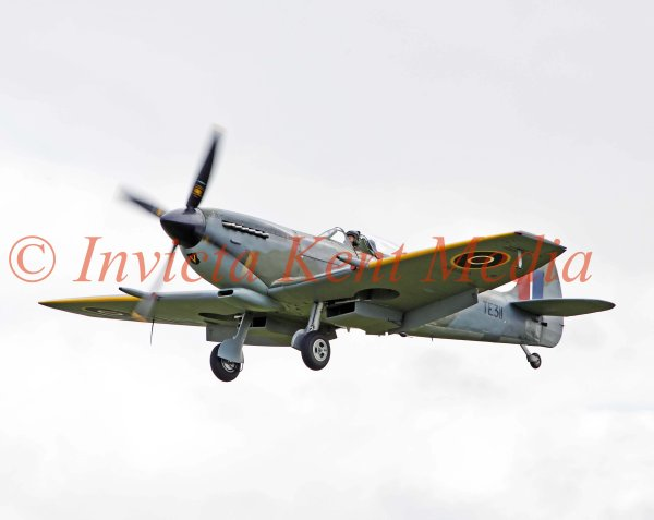 Spitfire TE311 (Mk LF XVIE) from the Battle of Britain Memorial Flight, seen over Biggin Hill, Kent